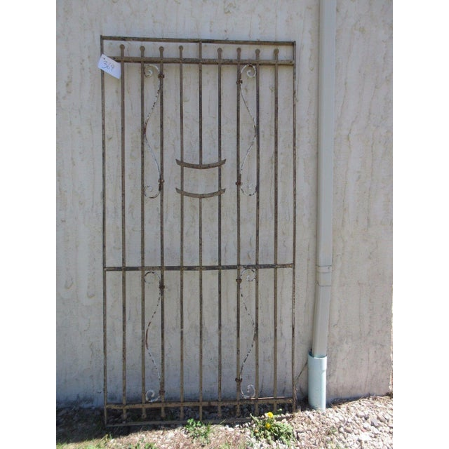 Antique Victorian Iron Gate For Sale In Philadelphia - Image 6 of 7