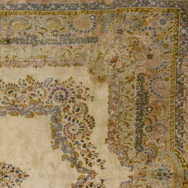 Antique Persian Kerman Rug with Traditional Style in Light Colors For Sale In Dallas - Image 6 of 10