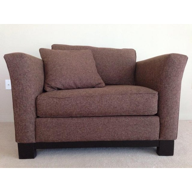 Jonathan Louis Kenton Contemporary Upholstered Armchair & Ottoman For Sale - Image 4 of 8