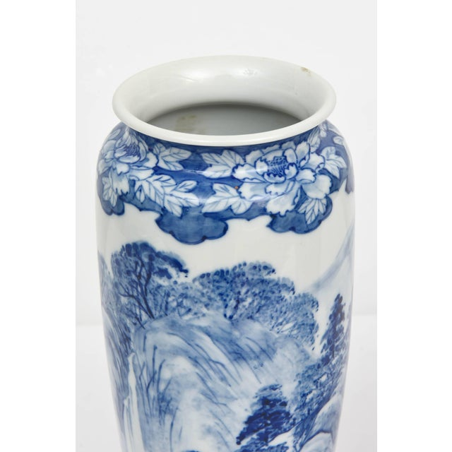 Anglo-Indian Pair of Vases, Antique Blue and White Japanese, Signed For Sale - Image 3 of 10