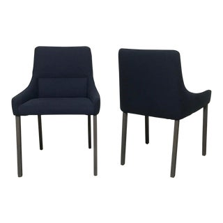 Minimalist Ligne Roset 'Long Island' Dining Chairs - a Pair For Sale