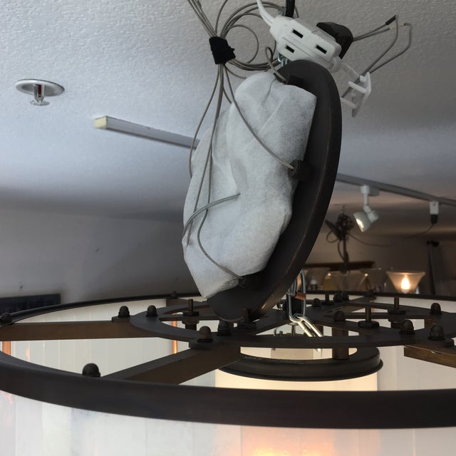 Metal Michael McEwen B Ring Ceiling Fixture For Sale - Image 7 of 10