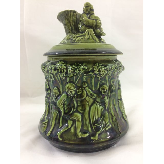 French 19th Century Tobacco Jar With Party Scene For Sale - Image 9 of 9