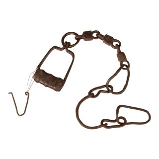 Hand Forged Iron Shackle, France C.1880 For Sale