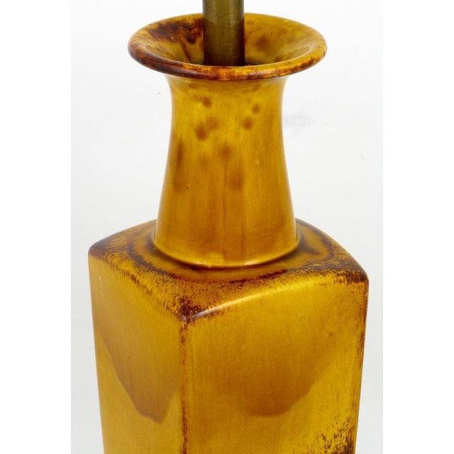 Saffron Glazed Vase Form Table Lamp By Frederick Cooper - Image 5 of 9