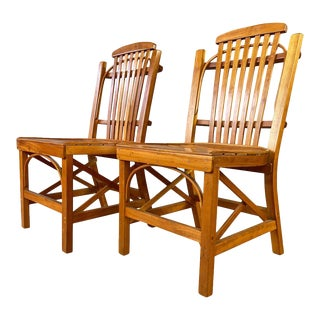 Pair of 1970s Amish Dining or Side Chairs For Sale