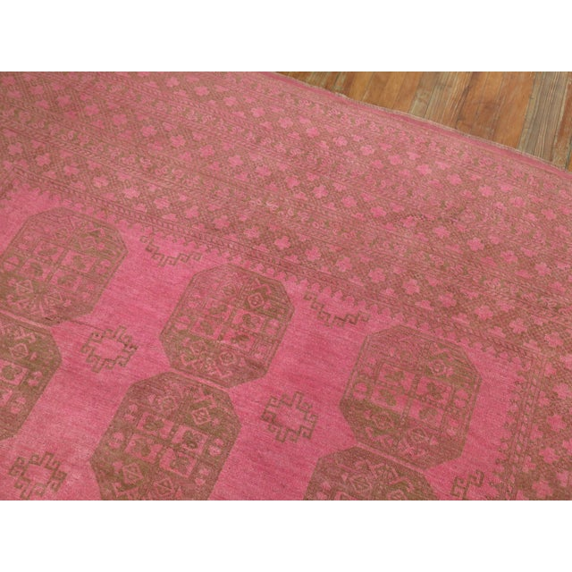 Textile Wild Pink Vintage Tribal Rug, 10'10'' X 13'5'' For Sale - Image 7 of 11