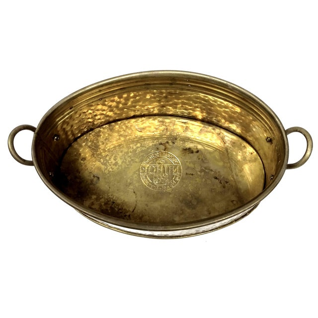 Solid Brass Nijhof Planter Made in Holland - Image 6 of 9