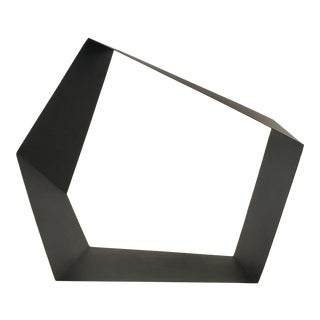 Baker Modern Black Metal Geometric Sculpture For Sale