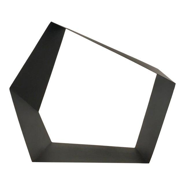 Baker Modern Black Metal Geometric Sculpture For Sale