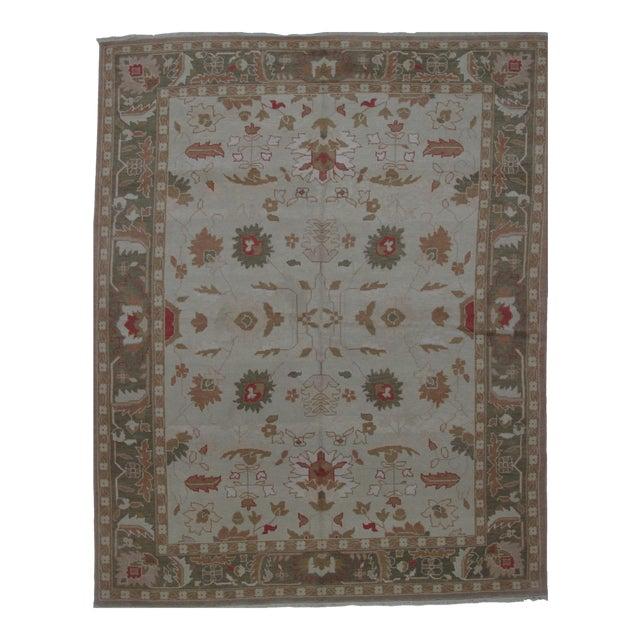Turkish Oushak Design Hand Woven Wool Rug - 4' X 6' - Image 1 of 5