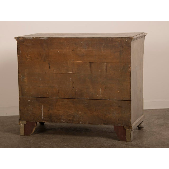 Antique English Tall Painted Three Drawer Chest circa 1850 - Image 8 of 11