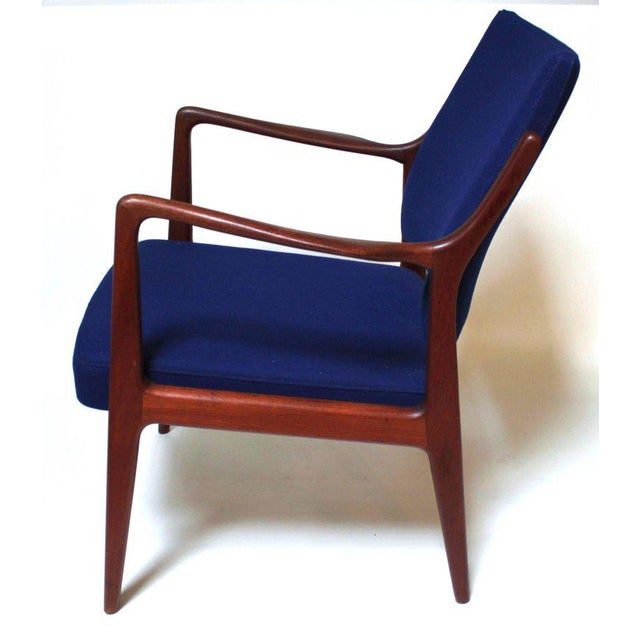 1960s Swedish Modern Teak Lounge Chair For Sale - Image 5 of 11