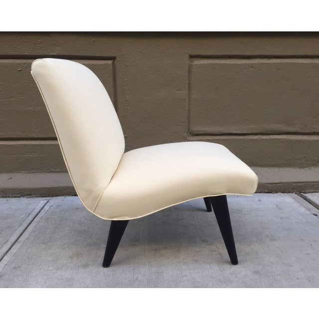 Jens Risom Scoop Chair for Knoll. Has black lacquered legs.