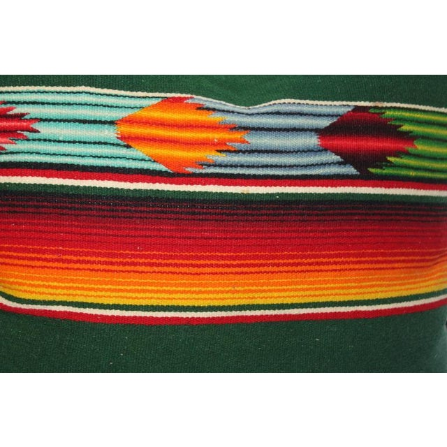 Adirondack Pair of Mexican Handwoven Serape Pillows For Sale - Image 3 of 5