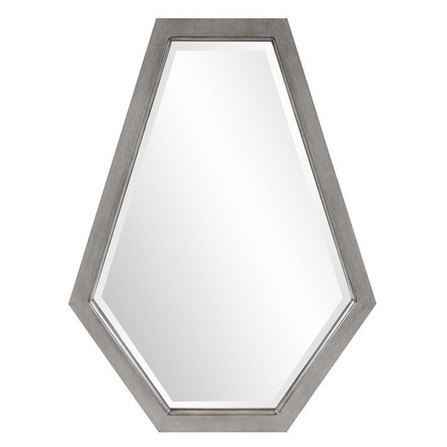 Contemporary Deacon Silver Mirror from Kenneth Ludwig Chicago For Sale - Image 3 of 6