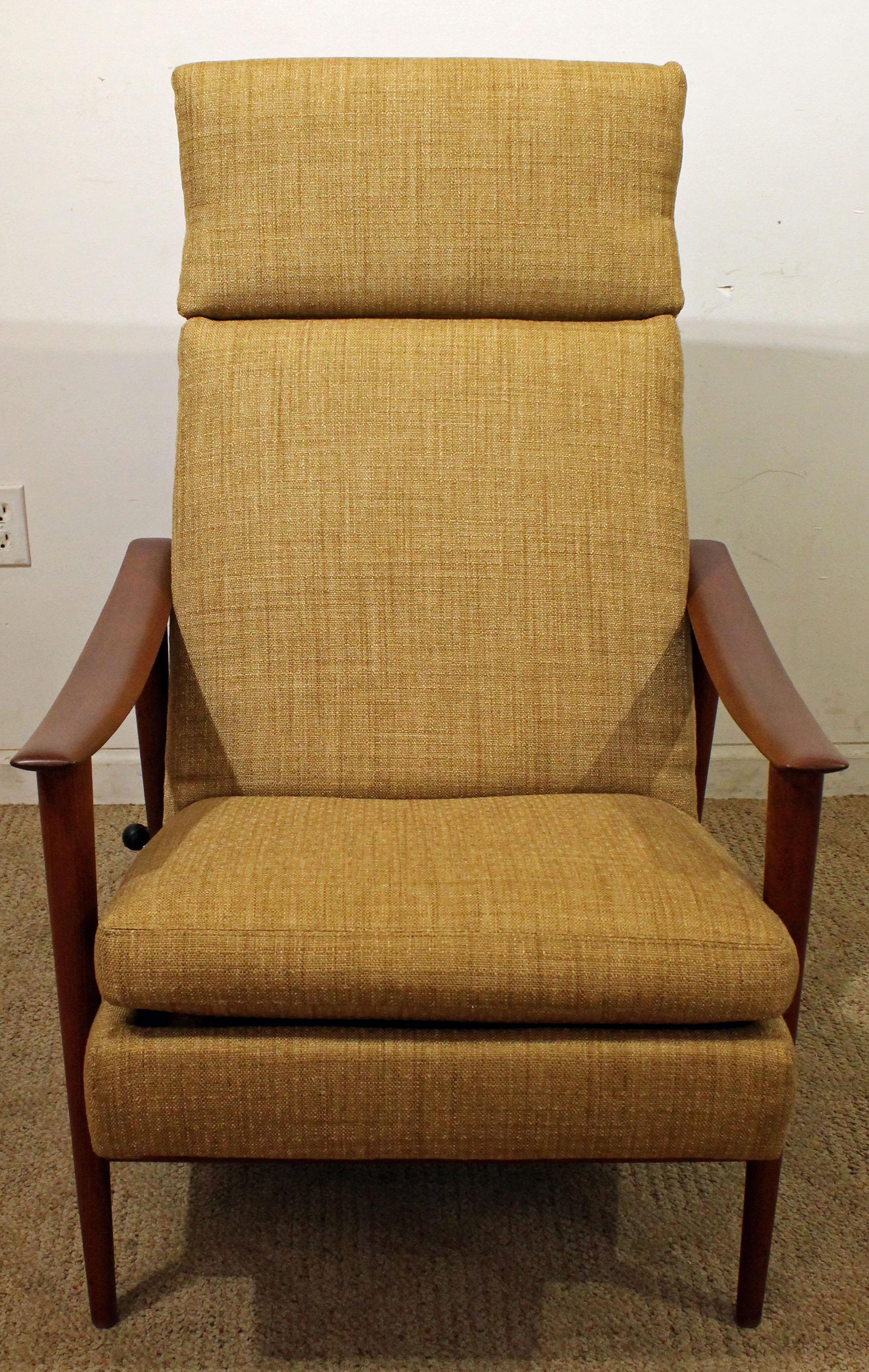 Mid Century Modern Westnofa Teak Adjustable Lounge Chair U0026 Ottoman   Image  3 ...