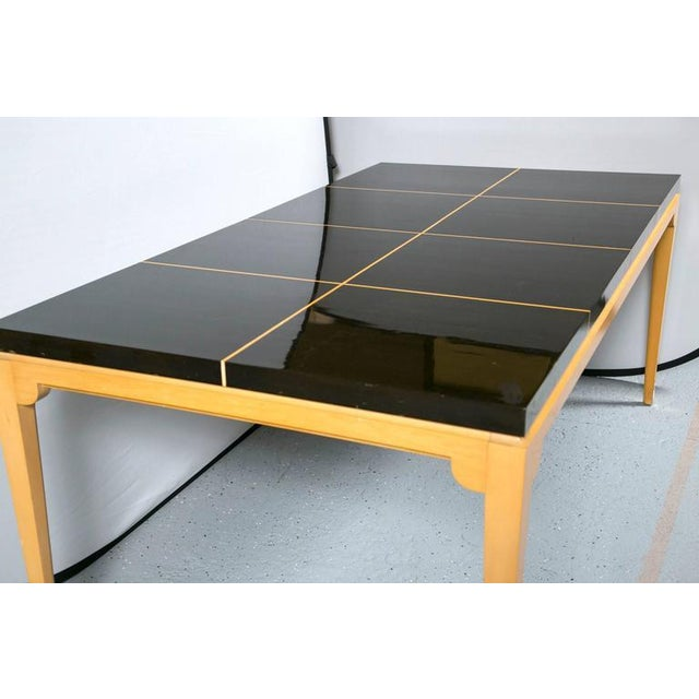 Tommi Parzinger Inlaid Mahogany Dining Table - Image 8 of 9