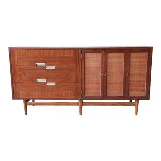 Merton Gershun for American of Martinsville Walnut Dresser or Credenza