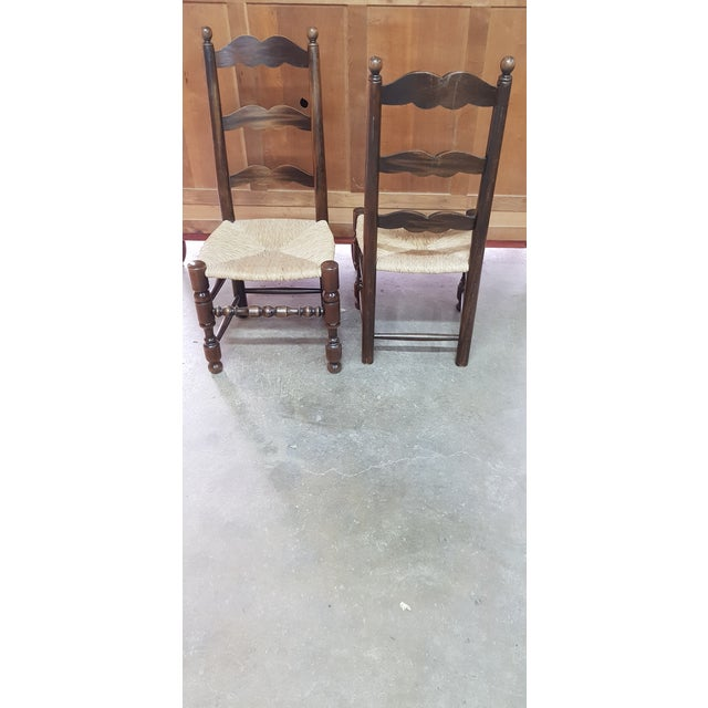 Traditional 1900s Vintage Provencal Dining Chairs- Set of 4 For Sale - Image 3 of 10