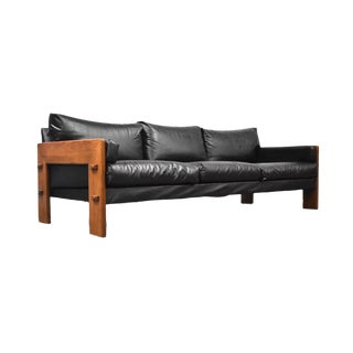 Brazilian Style Black Modern Sofa For Sale