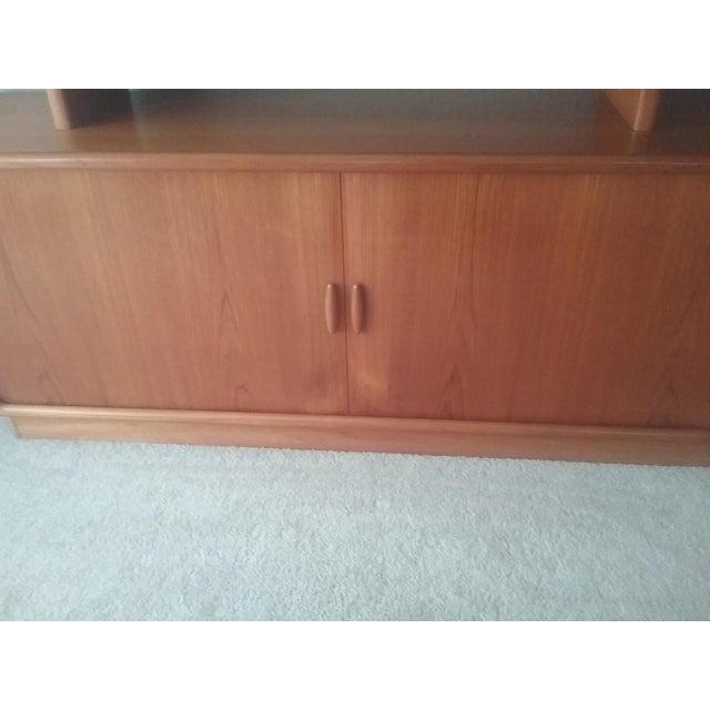 Dyrlund Scandinavian Teak Tambour Storage Sideboad & Dislay Cabinet ( 2 Pieces) - Image 5 of 6