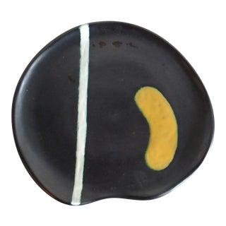 1950s Vintage Raymor Modernist Italian Ceramic Plate For Sale