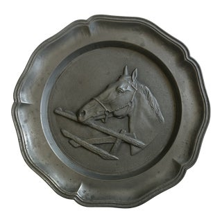 Rein Zinn Vintage Horse Head Pewter Plate For Sale