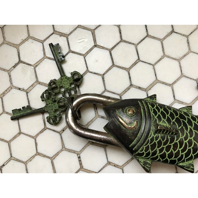 Tibetian Mystery Koi Fish Lock & Keys - Image 9 of 10