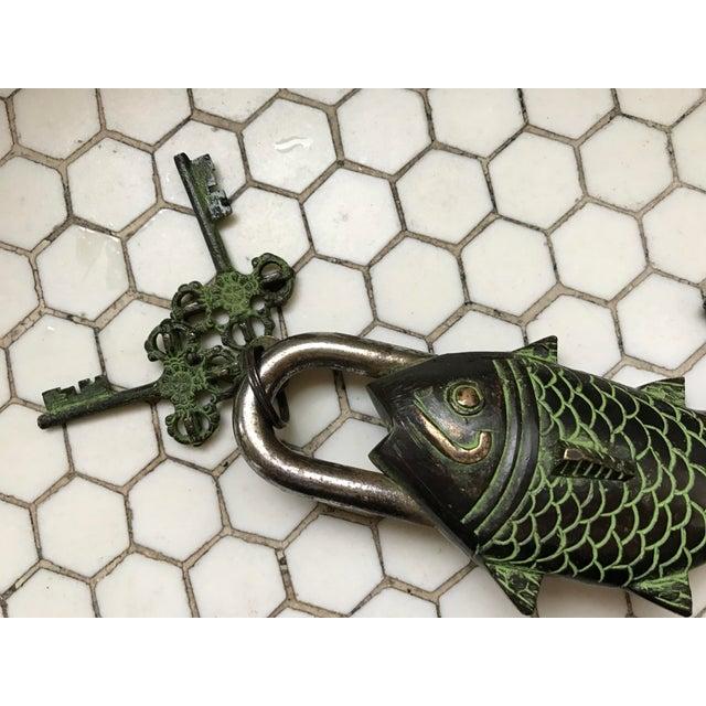 Tibetian mystery koi fish lock keys chairish for Decoration 02100