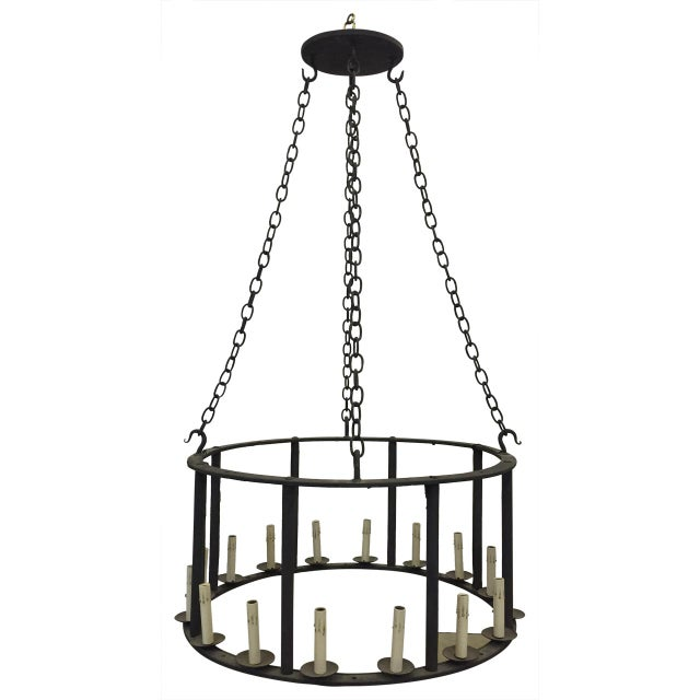 Antique Spanish Iron Chandelier For Sale In Atlanta - Image 6 of 6