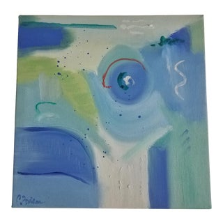Christine Frisbee Small Abstract Oil Painting For Sale