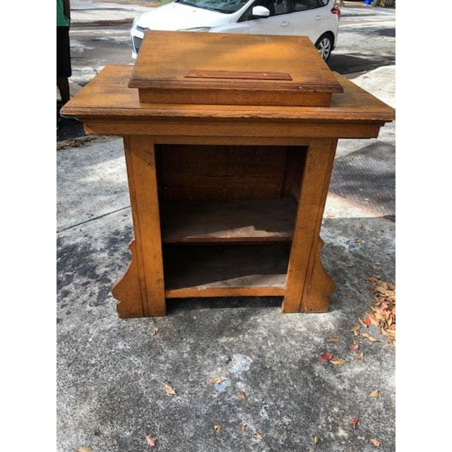 Antique Gothic Style Oak Church Lectern For Sale - Image 4 of 6