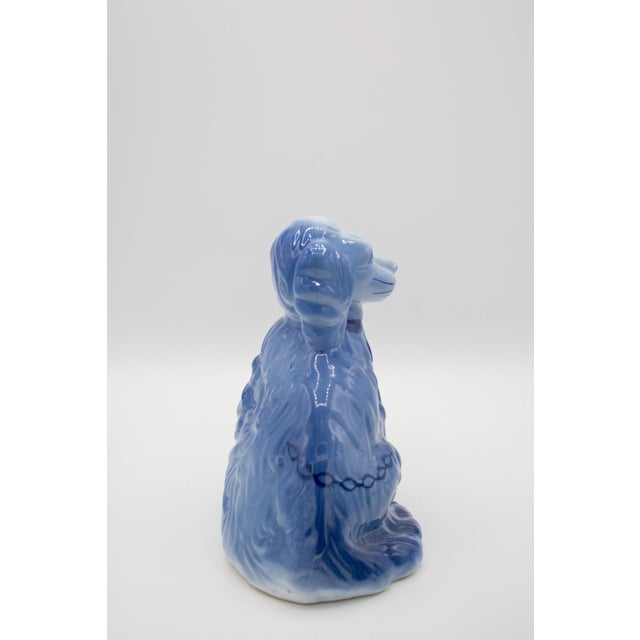 Staffordshire Style Blue Spaniel Figurines - a Pair For Sale In Pittsburgh - Image 6 of 11