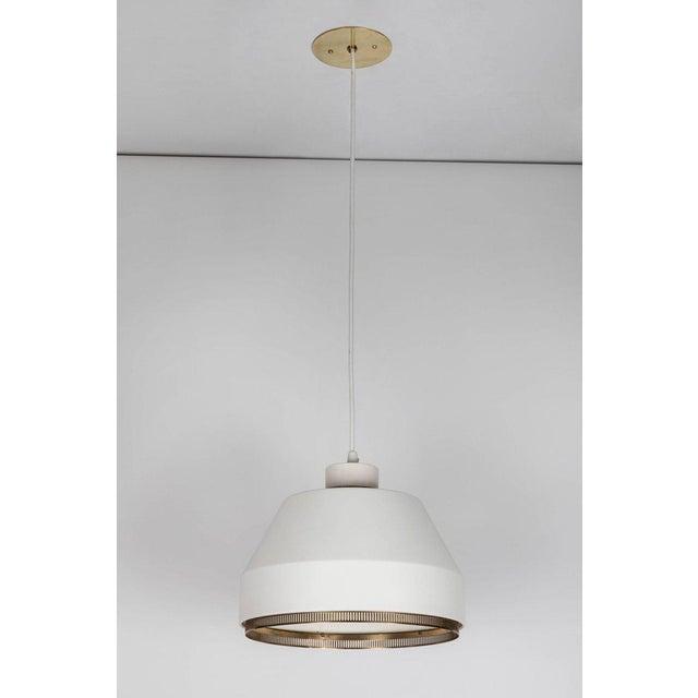 White 1940s Modern Aino Aalto 'Ama 500' Pendant Light For Sale - Image 8 of 13