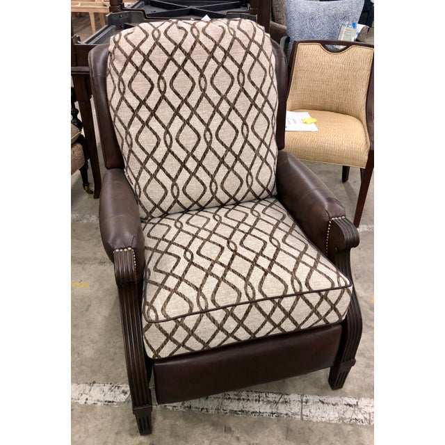 Contemporary Reclining Leather Chair For Sale - Image 10 of 10