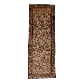 """Hand Made Persian Runner Rug3'6""""x 9'10"""" For Sale"""