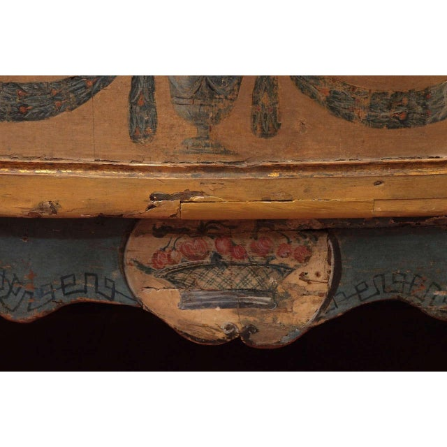 Early 18th Century Rare, 18th Century Italian Demilune Commode For Sale - Image 5 of 10
