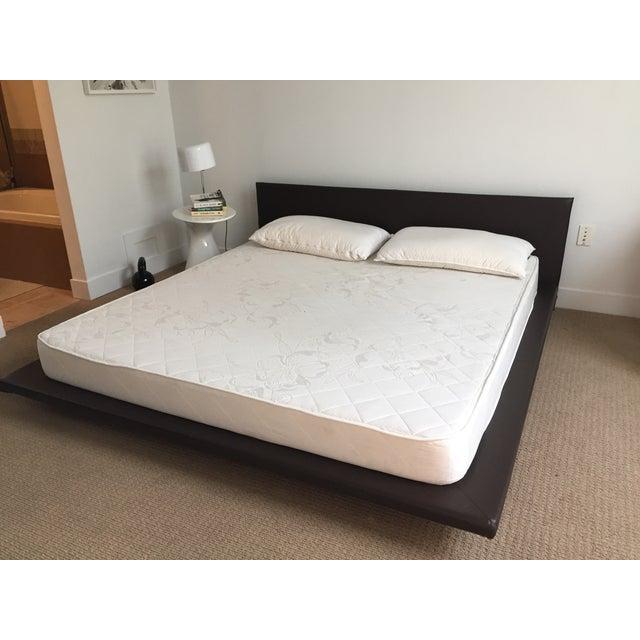 King Size Leather Platform Bed - Image 2 of 9