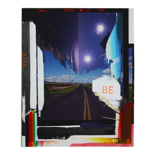 """Contemporary Abstract Photography and Paint on Wood """"Be"""" by Jason Engelund For Sale"""
