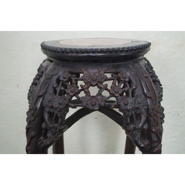 Vintage Chinese Carved Plant Stand - Image 3 of 10
