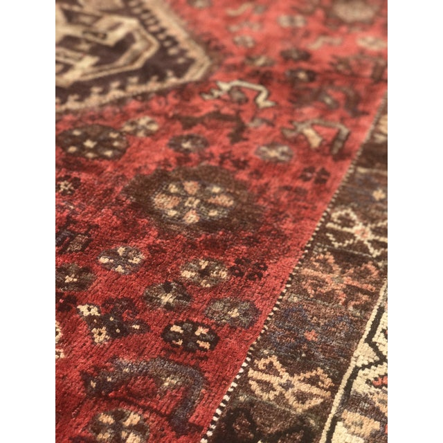 "Vintage Persian Shiraz Area Rug - 5'7""x8'1"" - Image 6 of 11"