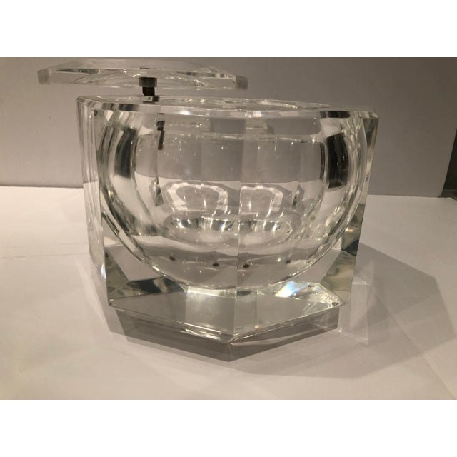 1970s 1970's Lucite Ice Bucket by Alessandro Albrizzi For Sale - Image 5 of 8