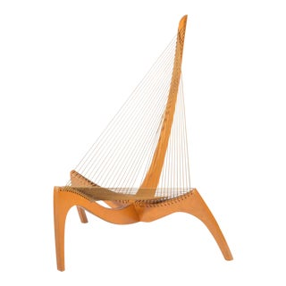 Early Jorgen Hovelskov, Christensen & Larsen Harp Chair 1963 For Sale