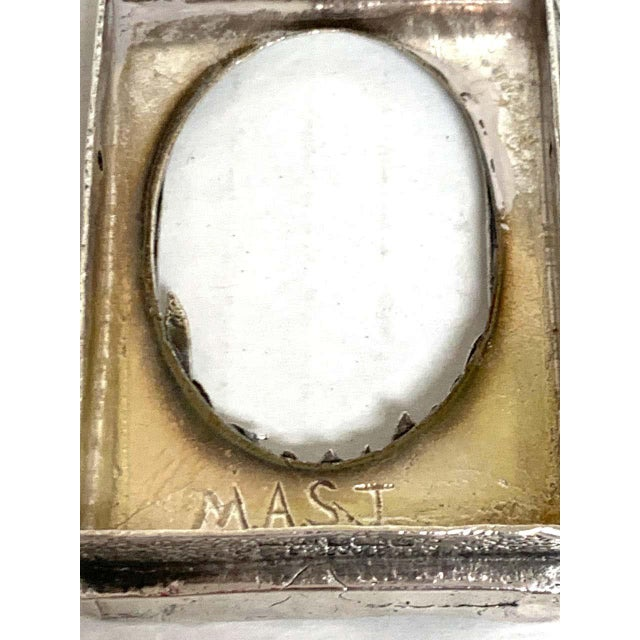 Metal English Sterling Duck Motif Small Frame, Birmingham, 1985 For Sale - Image 7 of 12