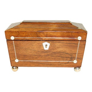 19th Century Rosewood Tea Caddy For Sale