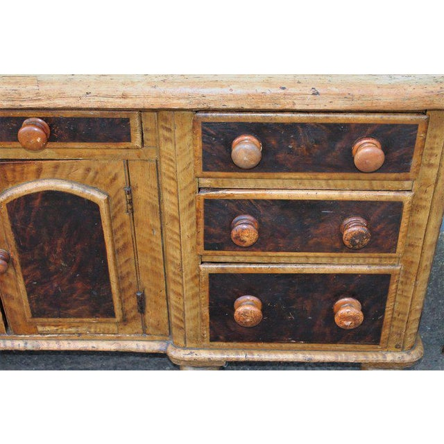 Late 19th Century 19th C. Original Painted Multi Drawer Credenza / Apothecary For Sale - Image 5 of 13