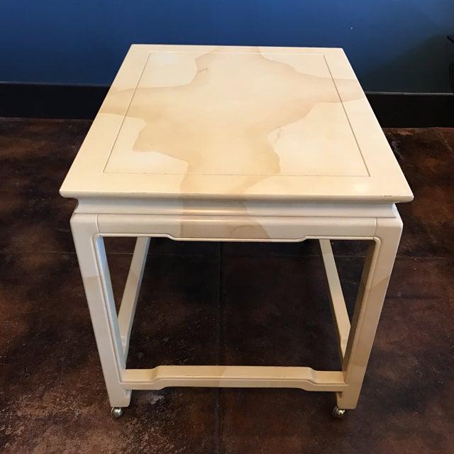 Henredon Chinoiserie Goatskin Lacquer Table - Image 5 of 11