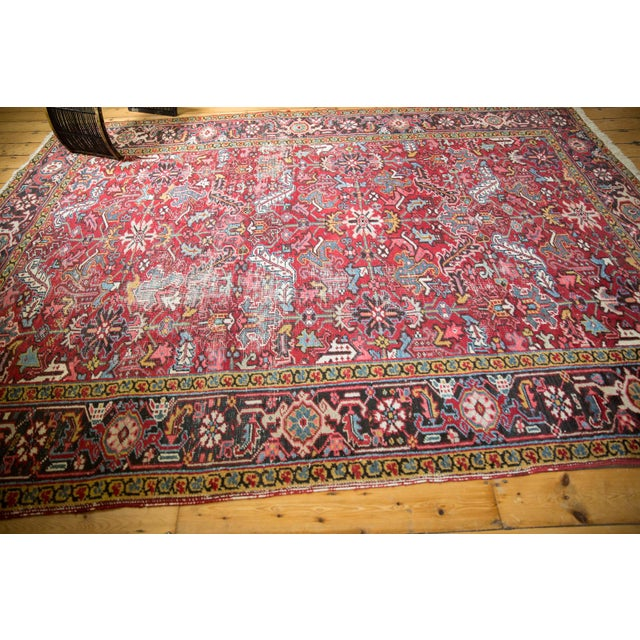 """Vintage Heriz Carpet- 7'6"""" X 10' For Sale - Image 11 of 12"""