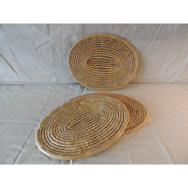 Set of (6) Oval Woven Abaca Placemats For Sale - Image 4 of 9